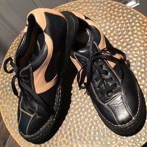 Born leather lace up oxford sneaker - blk/tan - 8M
